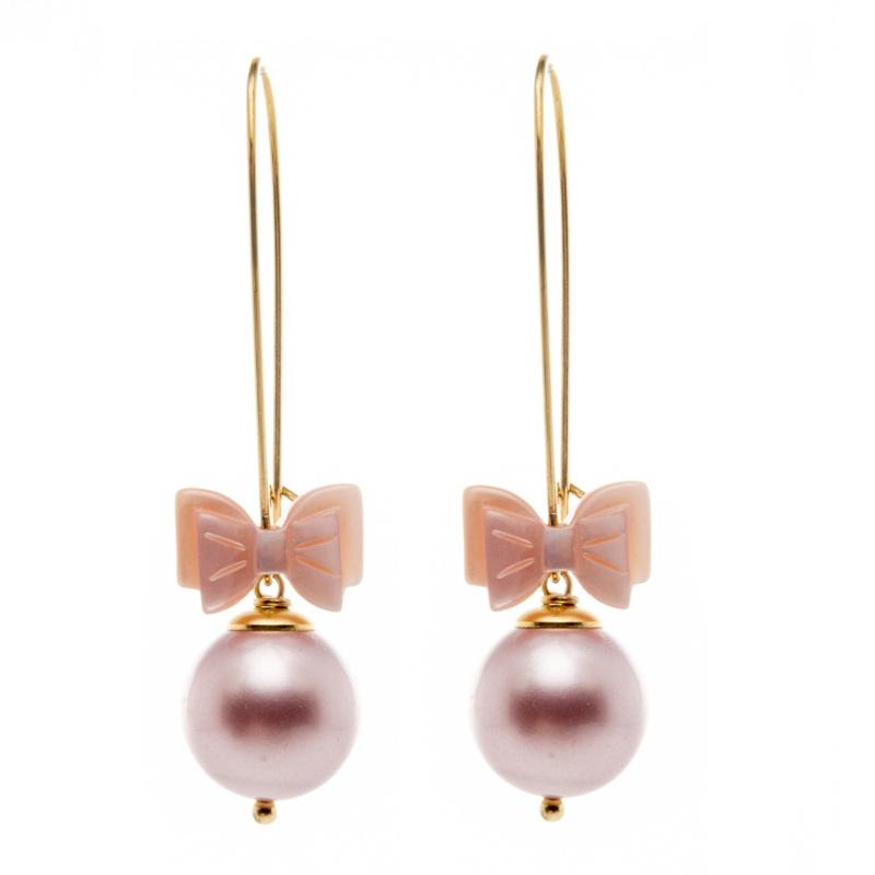Boucles d'oreille Annabelle dorées roses, boucles d'oreille, bijoux haute fantaisie, bijoux rétro, créateur de bijoux, made in France, Antibes, Juan les pins