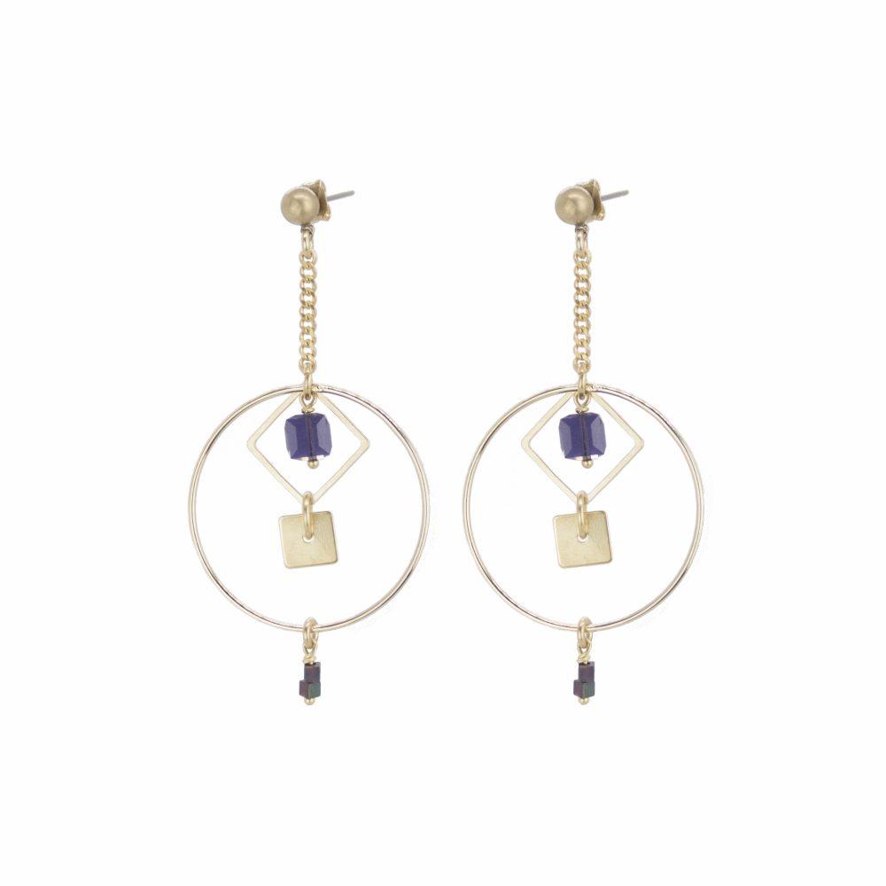 boucles camille, bijou swarovski, bijoux argent, bijoux de créateur, bijoux fantaisie