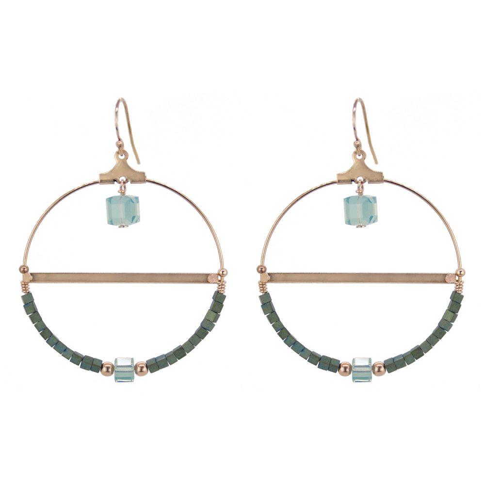 boucles d'oreille, bijoux swarovski, créoles,