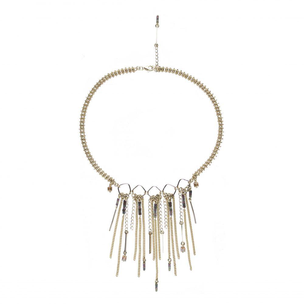 collier jade copper dor or fin crystal swarovski bijoux fantaisie. Black Bedroom Furniture Sets. Home Design Ideas