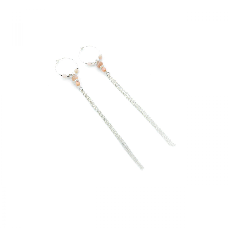 Boucles d'oreille XXLBetty roses argent 12 cm, bijoux fantaisie, bijoux haute fantaisie, bijoux de créateur, made in Antibes Juan les pins, créations artisanales francaises