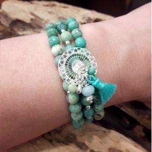 Bijoux haute fantaisie, bracelet, turquoise, bijoux fantaisie, bijoux haute fantaisie, made in France, Antibes, Juan les pins