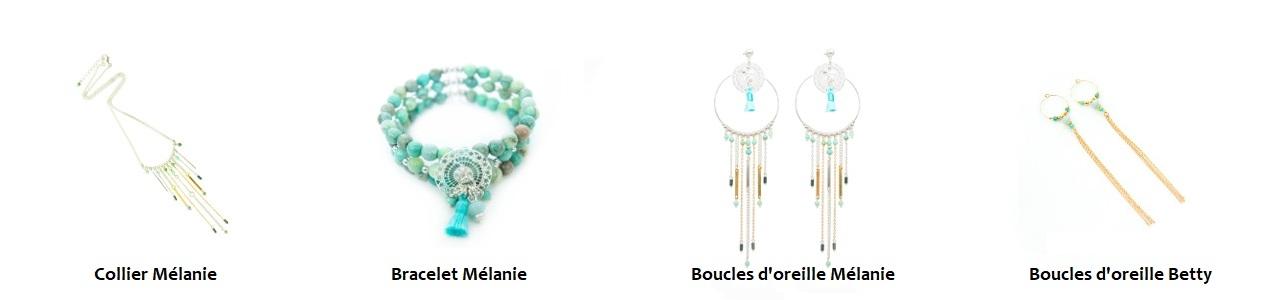 Collection COACHELLA, bijoux fantaisie, bijoux haute fantaisie, bijoux créateur, made in France, Antibes, Juan les pins