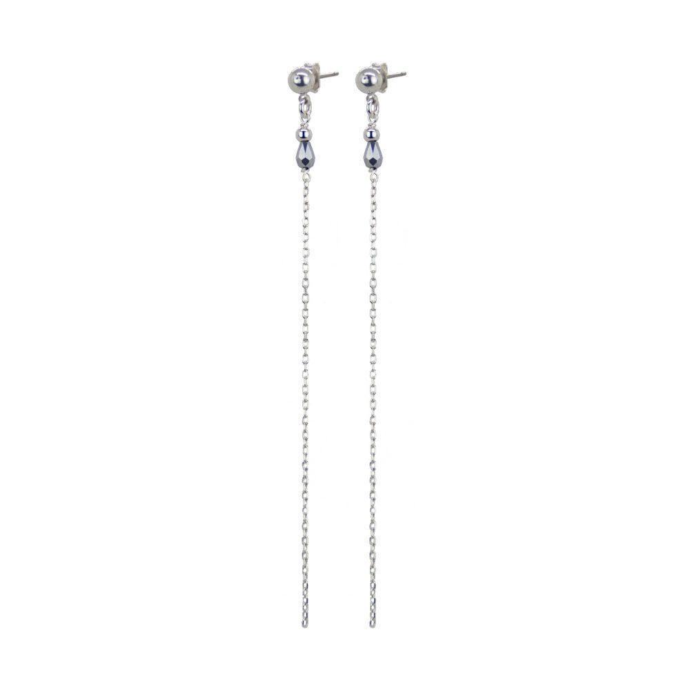 boucles d'oreille, Boucles d'oreille Mila argent 10 cm, bijoux haute fantaisie, bijoux fantaisie, créateur de bijoux, made in france, Antibes, Juan les pins