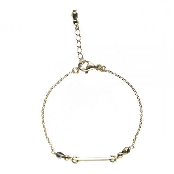 bracelet, Bracelet Mila doré plaqué or, bijoux fantaisie, créateur de bijoux, made in France, Antibes, Juan les pins