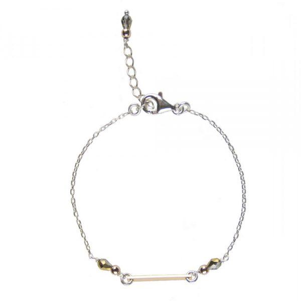 bracelet, Bracelet Mila rose argent, bijoux fantaisie,créateur de bijoux, made in France, Antibes, Juan les pins