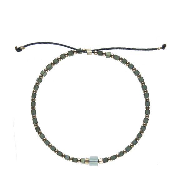 Bracelet Chloé Pacific plaqué or, bijoux fantaisie de créateur, made in France, juan les pins