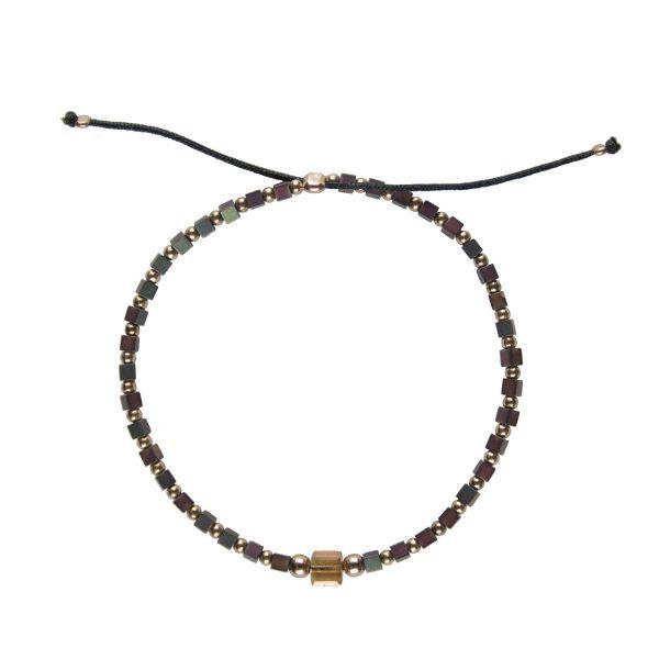 Bracelet Chloé Copper plaqué or rose, bijoux fantaisie, bijou de créateur, made in France, Juan les pins