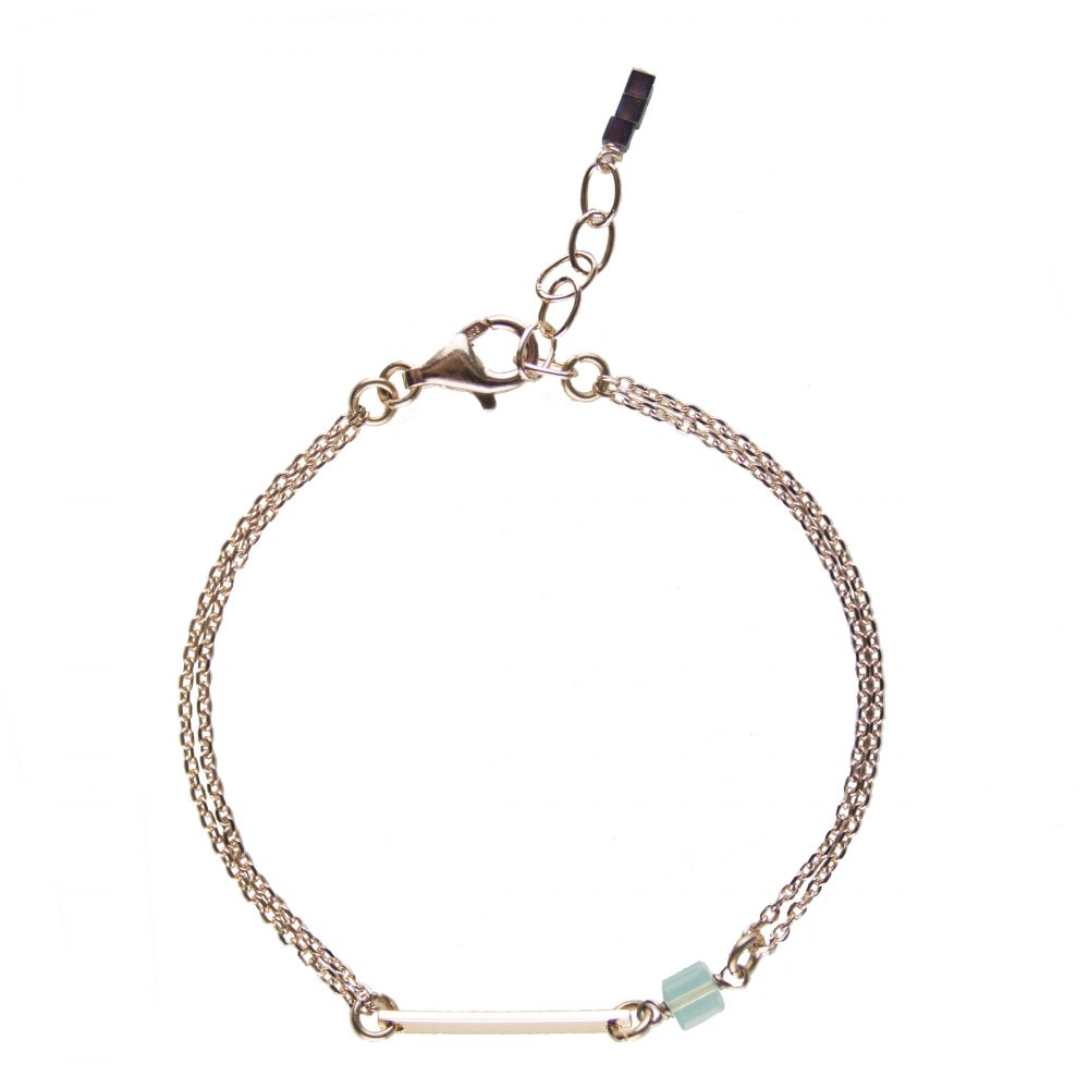 bracelet plaqué or rose, bijoux or rose, bijoux haute fantaisie, bijoux de créateur, bracelet fin