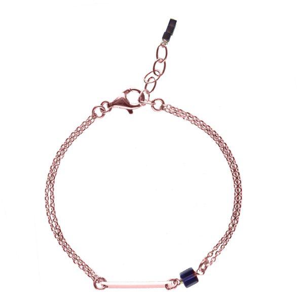 bracelet plaqué or rose, bijoux or rose, bijoux fantaisie, bracelet fin, bijoux de créateur
