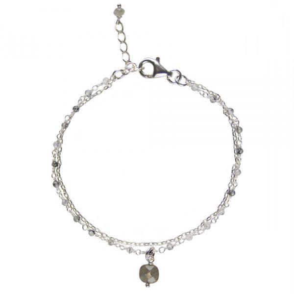 Bracelet Nell Labradorite argent, bracelet, bracelet argent, bracelet pierre, bijoux argent, bijoux haute fantaisie