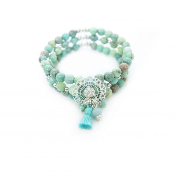Bracelet Mélanie bleu argent: bijoux fantaisie, créateur de bijoux, made in France, Antibes, Juan les pins