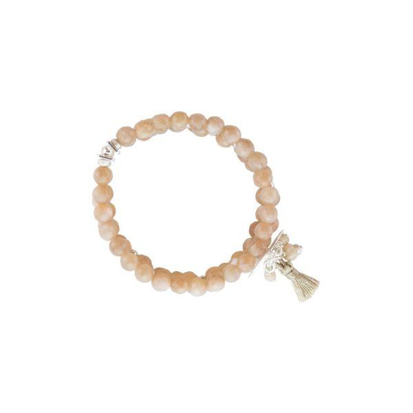 Bracelet Mélanie rose argent 18 cm: bijoux fantaisie, créateur de bijoux, made in France, Antibes, Juan les pins