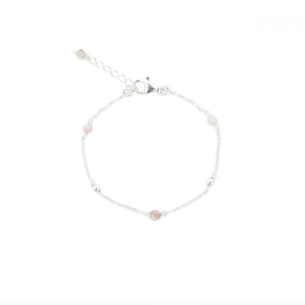 Bracelet Alisé rose argent, bracelet argent, bijoux fantaisie, bijoux artisanal, made in france, handmade creation, Antibes, juan les pins