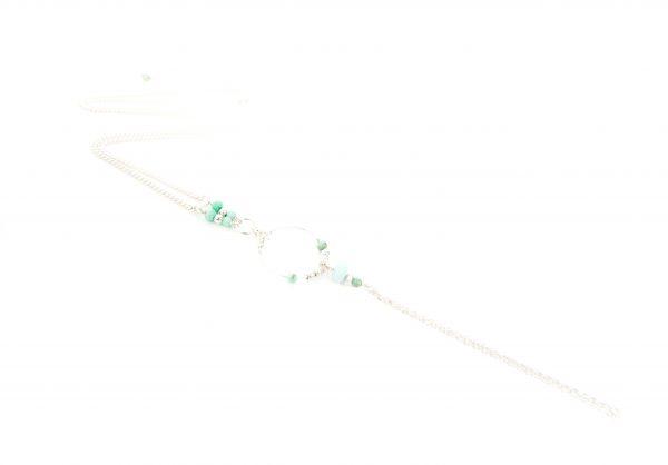 Collier Betty bleu argent, collier argent, bijoux haute fantaisie, bijoux de créateur, made in France, handmade creation, Antibes Juan les pins, créations artisanales françaises