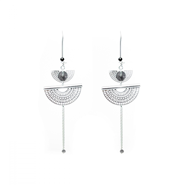 Boucles d'oreille, bijoux fantaisie, nouvelle collection printemps été 2018, bijoux fait main, bijoux de créateur