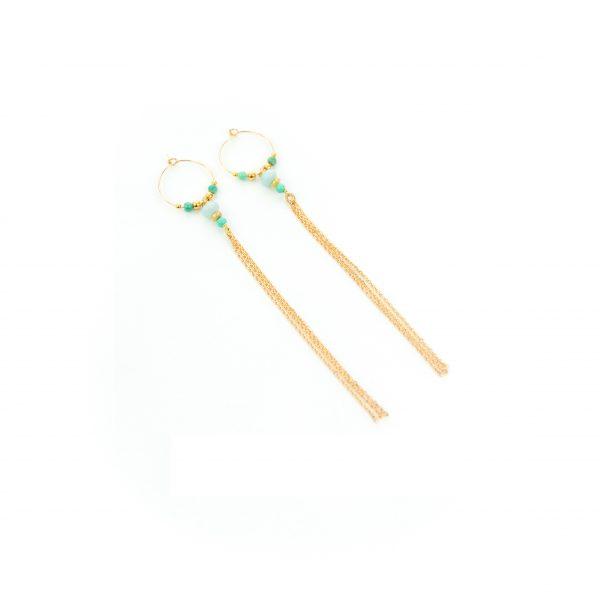 Bouclesd'oreille XXL Betty bleues plaqué or, bijoux haute fantaisie, créateur de bijoux, fait main, handmade creation, Antibes Juan les pins