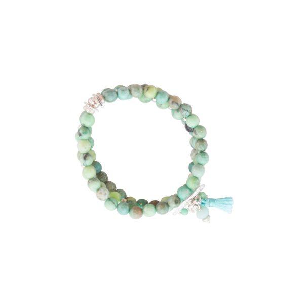 Bracelet Mélanie bleu argent, bracelet argent, pierre semi-précieuses, bijoux haute fantaisie, créateur de bijoux, made in france, Antibes, Juan les pins