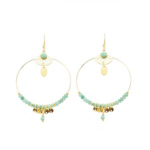 Boucles d'oreille shiva bleu, bijoux fantaisie, bijoux haute fantaisie, bijoux de créateur, made in France, boucles, d'oreille