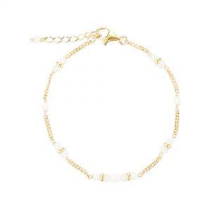 Bracelet Shiva plaqué or blanc , bijoux fantaisie, bijoux de créateur, made in France, bracelet