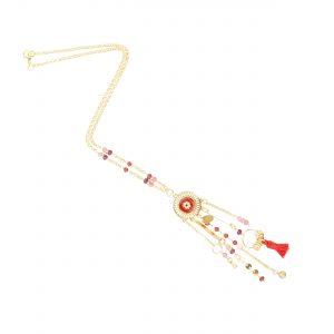 Bracelet Tara plaqué or rouge, bijoux fantaisie, bijoux de créateur, made in France