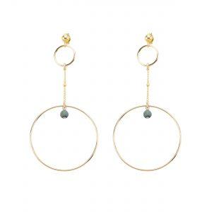 Boucles d'oreille Stella bleu plaqué or, bijoux fantaisie, bijoux de créateur, made in France, Juan les pins