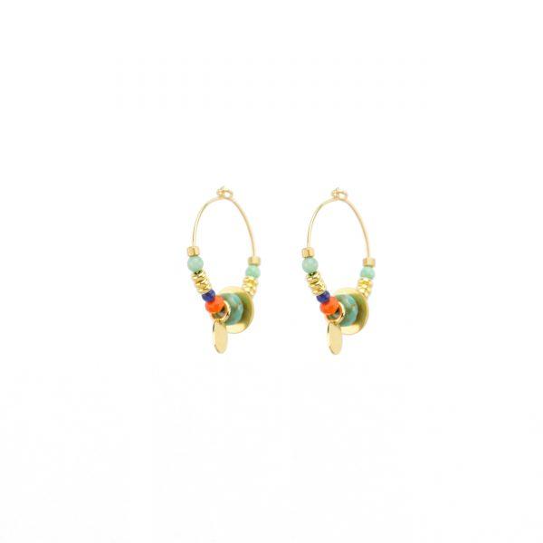 Boucles d'oreille Sutra bleues, bijoux fantaisie, bijou de créateur, made in France, Juan les pins