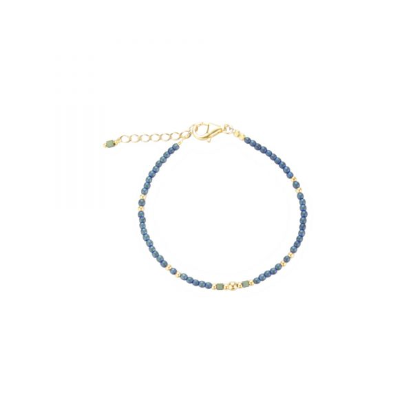Bracelet Cassiopée bleu plaqué or , bijoux fantaisie, bijoux haute fantaisie, bijoux de créateur, made in France, juan les pins