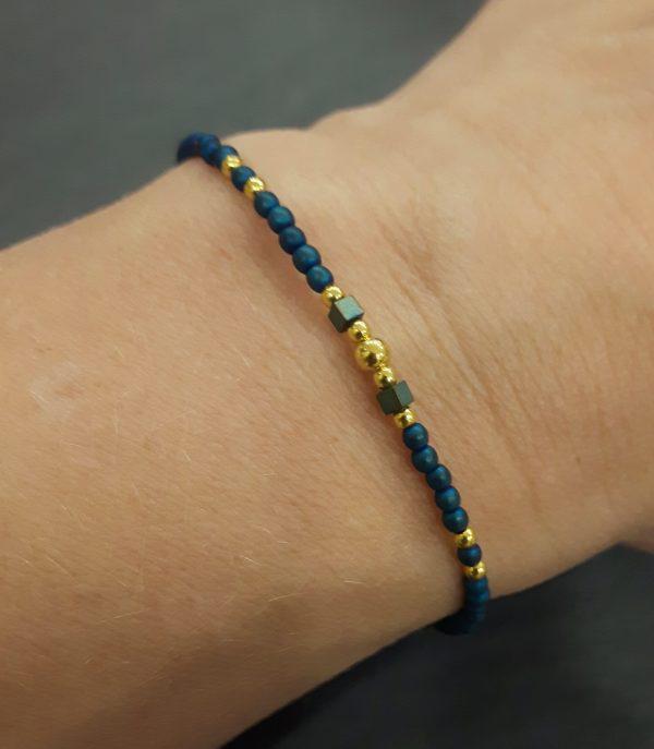 Bracelet Cassiopée doré plaqué or, bijoux fantaisie, bijoux de créateur, made in France, Juan les pins