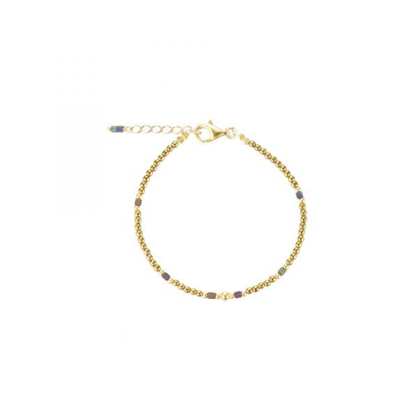 Bracelet Cassiopée doré plaqué or, bijoux fantaisie, bijoux haute fantaisie, bijoux de créateur, made in France, Juan les pins