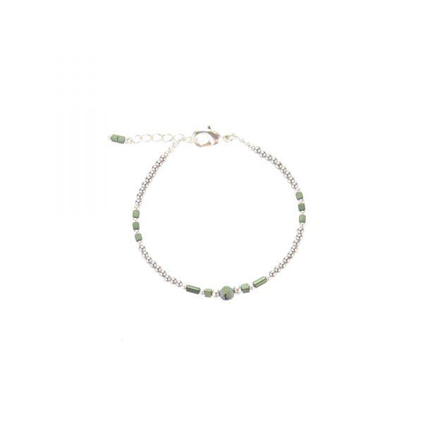 Bracelet Luna irisé bleu argent, bijoux fantaisie, bijoux haute fantaisie, bijoux de créateur, made in france, cote d'azur