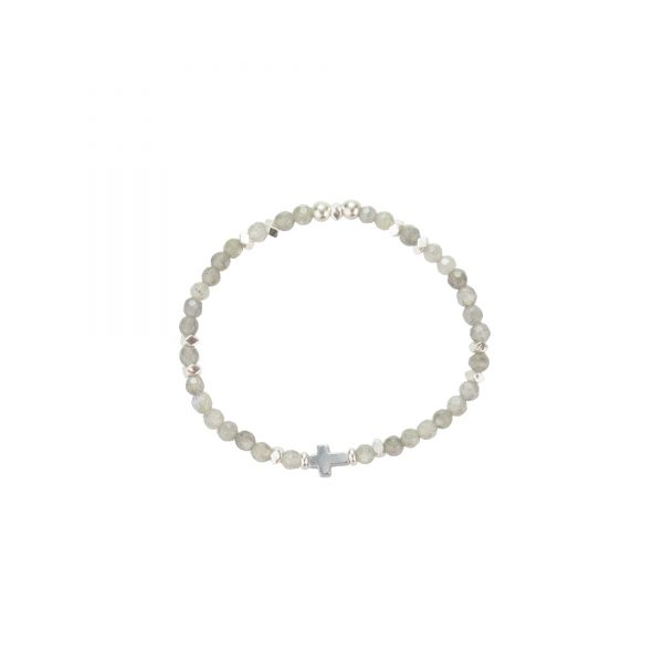 Bracelet Jeanne Labradorite argent, bijoux de créateur, binjoux fantaisie, made in France Antibes