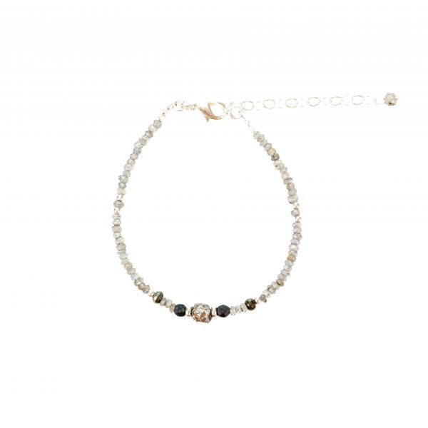 Bracelet Kim Labradorite Argent -collection Fragment- bijoux fantaisie- créateur de bijoux, made in France