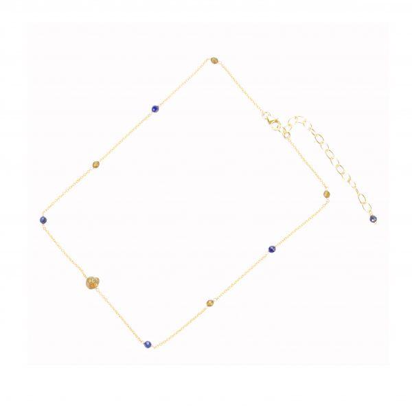 Collier fragment La petite fabric de bijoux Lapis lazuli et Gold-filled bijoux fantaisie -bijoux de créateur