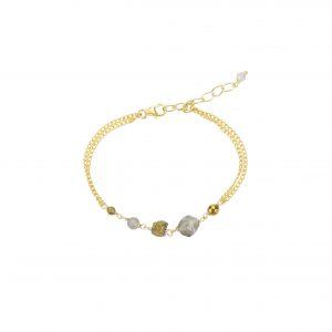 Bracelet Emma Labradorite goldfilled 15.5 cm collection Fragment La petite fabric de bijoux
