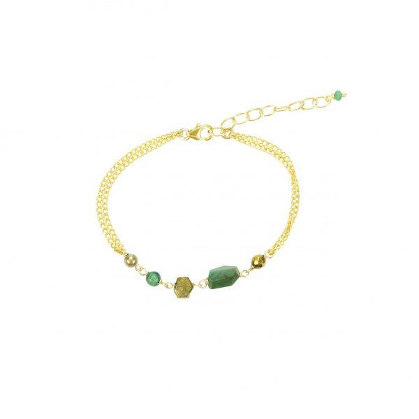 Bracelet Emma Malachite Gold-filled