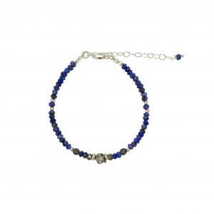 Bracelet Kim Lapis Lazuli Argent