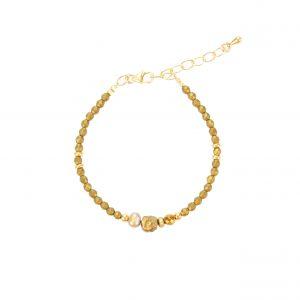 Bracelet Kim Hématite Gold-filled, bijoux fantaisies, made in France, créateur, juan les pins
