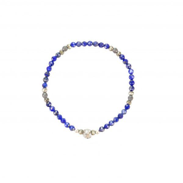 Bracelet Kimy Lapis Lazuli Argent