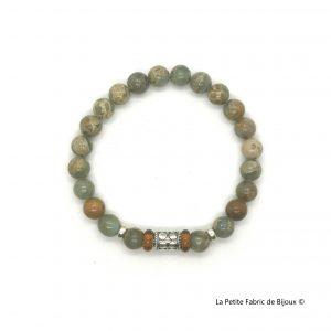 Bracelet Mavrick Jaspe turquoiseargent 925
