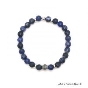 Bracelet Tyler sodalite argent 925 : Bracelets hommes