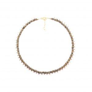 collier ras du cou Ifri pyrite ~ 36 cm