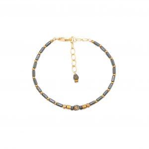 bracelet jonc kali Hematites 16 cm